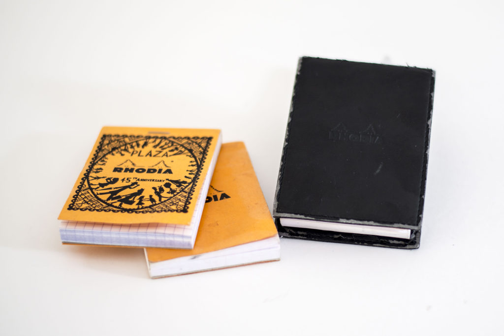 アイデアは紙に書いてます、フランスから来た定番メモ手帳ロディアNo.11